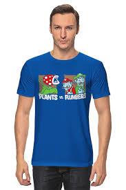 <b>Футболка классическая Printio Plants</b> vs plumbers(противостояние)
