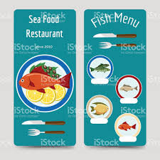 fish menu flyers template stock vector art istock 1 credit