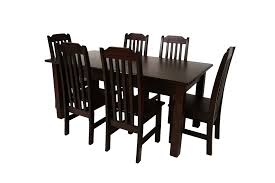 Room And Board Dining Chairs Dark Pine Wood Dining Table With Six Windsor Wooden Seat For