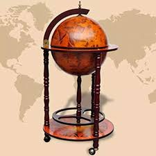 vidaXL Solid Eucalyptus Wood Globe Bar Wine Stand ... - Amazon.com