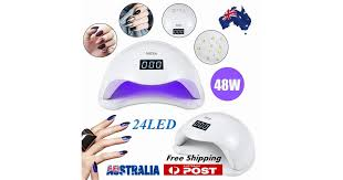 New SUN5 <b>48W LED UV</b> Nail Lamp Light Gel Polish Dryer Manicure ...