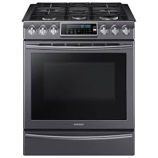 Gas Stainless Steel Cooktop Samsung 30 58 Cu Ft True Convection 5 Burner Slide In Gas