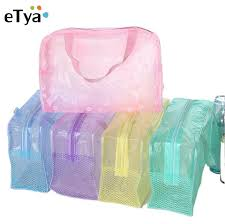 <b>Women Waterproof Transparent</b> Floral <b>PVC</b> Travel Cosmetic Bag ...