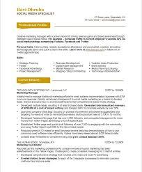 social media resume 55after_1 social media marketing resume sample