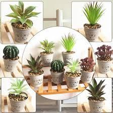 <b>Faux</b> Succulent <b>Artificial</b> Succulent <b>Fake Simulation Potted Plant</b> ...