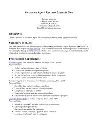 insurance agent resume recentresumes com insurance agent resume example insurance agent resume cover letter