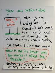 struggling readers oakland schools literacy anchor chart for the signpost words of the wiser