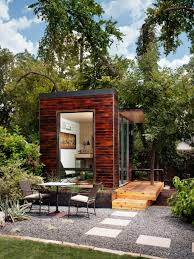 tiny backyard home office with deck and table 2015 fresh faces of design awards hgtv backyard office pod 4