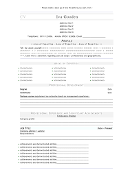 create a resume exons tk category curriculum vitae