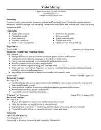 resume resume examples for fast food template resume examples for fast food full size