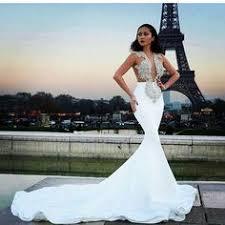 <b>White</b> High-Neck <b>Evening Gown</b> Sleeveless Newest <b>Mermaid</b> Prom ...