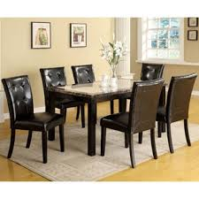 seven piece dining set: furniture of america berthelli black  piece dining set