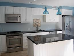nice blue pendant lights and tiny island design feat modern kitchen cabinets plus black countertop idea black modern kitchen pendant lights