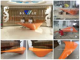 specific use reception desk modern office reception desk with 12mm acrylic solid surface design led lights acrylic lighted reception desk reception counter design