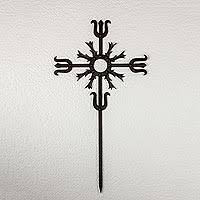 iron wall cross love: wrought iron wall cross love energy in black artisan crafted iron wall