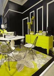 it looks so chic with black white black green living room home