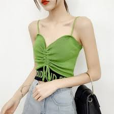 Shop <b>Sexy V Neck Cropped</b> Tank Tops Camisole <b>Women</b> Letter ...