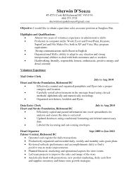 examples of resumes internship resume objective good in 89 enchanting examples of good resumes
