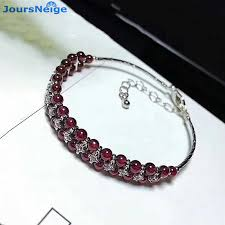 Wholesale Wine <b>Red Garnet</b> Natural Stone <b>Bracelets</b> Beads Tibetan ...