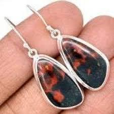 <b>Bloodstone</b> Earrings - Sterling <b>Silver</b> Earrings - <b>Bloodstone</b> Jewelry ...