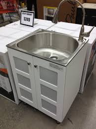 Laundry Cabinets Home Depot Love This Stainless Steel Laundry Sink Cabinet 249 Home Depot