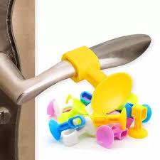 <b>2 Pcs Practical</b> Door Handle Silicone Anticollision Sucker <b>Home</b> ...