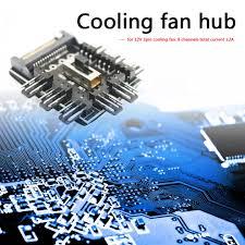 Splitter Cooling Fan Hub PC Mining SATA <b>1 to 8 3Pin</b> 12V Power ...