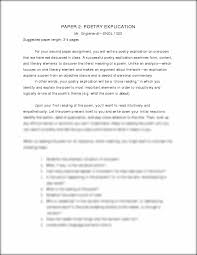 poetry explication essay writing a poetry analysis essay
