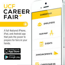 career services ucf ucf career fair plus app