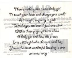 Baby Girl Highsmith Stickers Scrapbooking Poem Quotes Verses ...