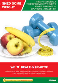 workplace heart health posters workplace ables alsco look better and feel better shed some weight
