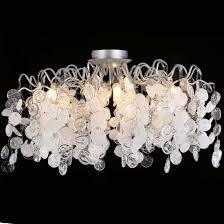 <b>Потолочный светильник</b> TENERIFE PL8 <b>SILVER</b> Crystal Lux ...