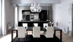 next black white interior design