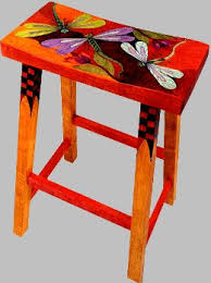 helen heins peterson modern folk art whimsical primitives hand painted furniture woodworks bright painted furniture