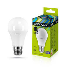 <b>Лампочка Ergolux LED</b>-<b>A60</b>-<b>10W</b>-E27-6K, Холодный свет, E27, 10 ...