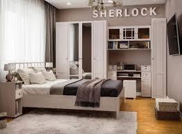 <b>Спальный гарнитур</b> «<b>Sherlock</b>» Ясень Анкор светлый купить ...