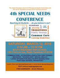 past meetings south pasadena parents for special needs children 4thspecialneedsconferenceflyer print
