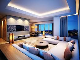 best modern living room designs:  living room best living room designs white sofa cushions carpet round wooden table bifet led