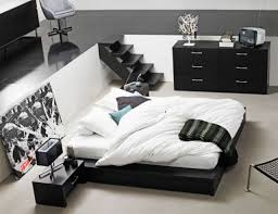 14 black bed with white furniture