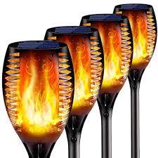 4PCs <b>Solar</b> Torch Lights <b>Outdoor</b>, 43 inch 96 <b>LED</b>, Waterproof ...