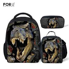 <b>FORUDESIGNS</b> Dinosaur <b>3D Printing</b> Set School Backpacks for ...