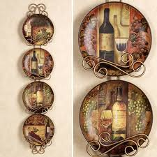 home decor plate x: wine and grapes kitchen decor home majestic grape plate set set of four