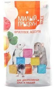 """<b>ВАКА High Quality</b>""""Милый Грызун""""200 г д/крыс/мышей Фрукт.ассо"""