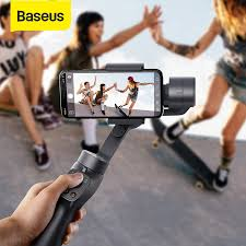 <b>Baseus 3 Axis Wireless Bluetooth</b> Handheld Gimbal Phone ...