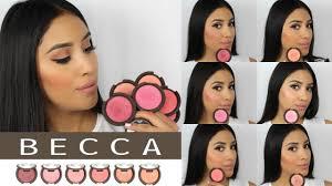 *New <b>Becca</b> Cosmetics Luminous Blushes REVIEW/SWATCHES ...