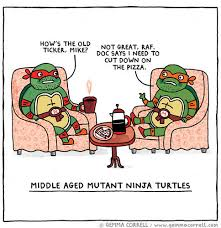 Middle Aged Mutant Ninja Turtles | Teenage Mutant Ninja Turtles ... via Relatably.com