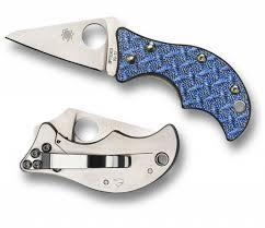 Купить <b>Нож складной</b> Spyderco <b>Spin Blue</b> Nishijin Glass Fiber ...
