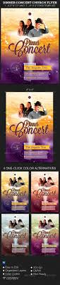 dinner concert church flyer template on behance