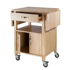 leaf kitchen cart: winsome wood double drop leaf kitchen cart with cabinet enlarge