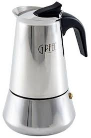 <b>Гейзерная кофеварка</b> на 6 чашек из нержавеющей стали <b>GIPFEL</b> ...
